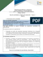 Guia de actividades y Rúbrica de evaluación - Tarea 1 - Algebra (4).pdf
