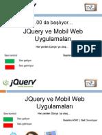 jQuery ve Mobil Web Uygulamaları