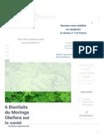 6 Bienfaits du Moringa Oleifera sur la santé prouvés scientifiquement - Therapeutes magazine.pdf