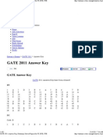GATE 2011 Answer Key, Solutions, Solved Papers for CS, ECE, CSE