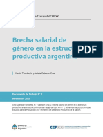 Brecha salarial de género en la estructura productiva argentina