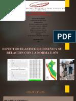 ESPECTRO ELASTICO DE DISEÑO