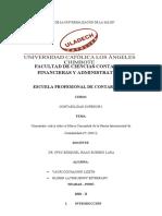 Comentario Crítico Sobre El Marco Conceptual de La Norma Internacional de Contabilidad