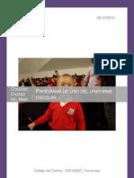 Programa de Uso Del Uniforme Escolar