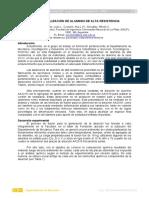 Estudio de Aleación de Aluminio de Alta Resistencia - Departamento de Mecánica, Facultad de Ingeniería, Universidad Nacional de La Plata