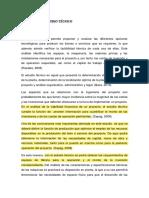 Lectura sobre el Estudio Tecnico unidad 2 EVAL. DE PROYEC