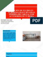 FRICION DE FLUIDO Y PERDIDA DE CABEZA