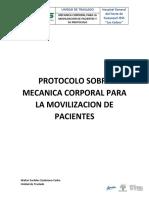 PROTOCOLO SOBRE MECANICA CORPORAL PARA LA MOVILIZACION DE PACIENTES - WALTER ZAMBRANO CARBO.docx