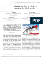 Application of cloud-based social robotics in cognitive exercises for elderly people