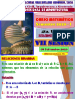 VII SESIÓN CURSO MATEMATICA ARQUITECTURA