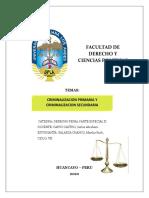 TAREA CRIMINALIZACION PRIMARIA Y CRIMINALIZACION SECUNDARIA