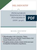 Model Deduktif