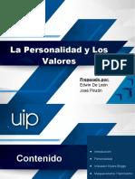 Presentación No. 1 - La Personalidad y Los Valores v01.pptx