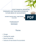 Highlights of recent fin. reporting standards and their implications on future breed of accountants