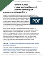 1604947188«ce sont aujourd'hui les investisseurs qui mettent l'accent sur l'importance de stratégies fiscales responsables»