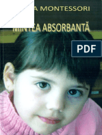 Maria Montessori - Mintea absorbanta