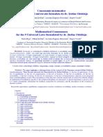 Consonanţe matematice pentru cele 9 legi universale Ștefan Odobleja