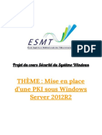 Mise en place d'un PKI sous Windows Server 2012