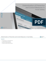Determination of Preventive and Control Measures in Food Safety