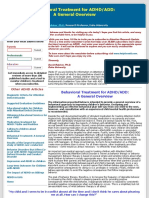 Behavioral Treatment for ADD:ADHD