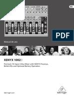 MANUAL-BEHRINGER-XENYX-1002B-ESP