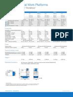 Genie GR 12, GR 15, GR 20 specifications