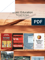 music education through the ages