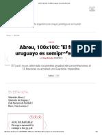 Abreu, 100x100_ __El fútbol uruguayo es semiprofesional__