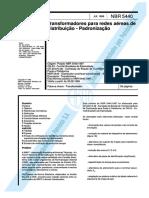 NBR 5440 - Transformadores Para Redes Aéreas de Distribuição - Padronização