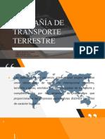 COMPAÑIAS DE TRANSPORTE TERRESTRE