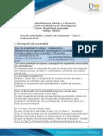 Guía de actividades y rúbrica de evaluación - Unidad 1, 2 y 3 - Fase 5 - Evaluacion final