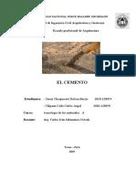 Monografía El Cemento