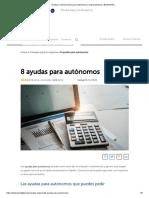 Ayudas y subvenciones para autónomos y emprendedores _ BeeDIGITAL