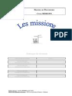 Manuel de procédures cycle missions