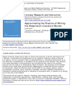 Approximating the Practice of Writing a literature review.pdf