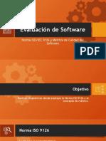 Norma ISOIEC 9126 y Métrica de Calidad del Software