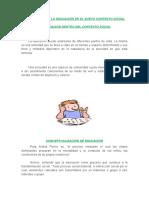 LA EDUCACION DENTRO DEL CONTEXTO SOCIAL