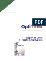 07 - OptiMaint Gestion des_ Budgets