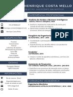 CV HENRIQUE MELLO Assistente BackOffice