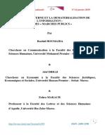 LE CONTROLE INTERNE ET LA DEMATERIALISATION DE L'INFORMATION - CAS DES « MARCHES PUBLICS »_2019.pdf