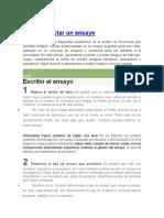 REDACCION DIFERENTES TIPOS DE ENSAYO