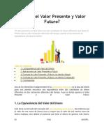 Qué es el Valor Presente y Valor Futuro