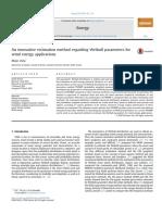 An innovative estimation method regarding Weibull parameters for wind energy applications