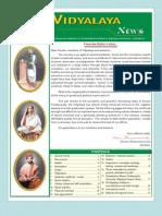 Ramakrishna Mission Vidyalaya Newsletter - January to June - 2008