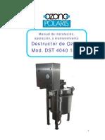 06 - Destructor de Ozono-Manual DST-4040-1800 OPSA