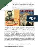 Épidémie ce qu'Albert Camus nous dit de la crise actuelle-2