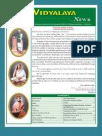 Ramakrishna Mission Vidyalaya Newsletter - July to December - 2007