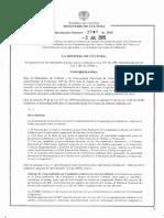Resolución 1941 de 3 de julio de  2015 de MinCultura, Colombia sobre protección de Puentes de Arcos de Ladrillo