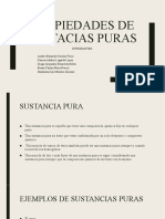 PROPIEDADES DE SUSTACIAS PURAS