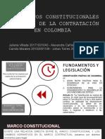 FUNDAMENTOS CONSTITUCIONALES Y LEGALES DE LA CONTRATACIÓN EN COLOMBIA